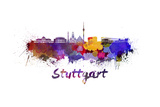 Stuttgart Skyline in Watercolor Posters by  paulrommer