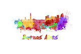 Buenos Aires Skyline in Watercolor Posters by  paulrommer