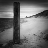 Post and Lighthouse Photographic Print by Martin Henson