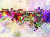 Rome Skyline in Watercolor Background Posters by  paulrommer