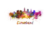 Cleveland Skyline in Watercolor Prints by  paulrommer