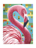 Fabulous Flamingos I Art by Carolee Vitaletti