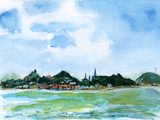 Xiamen Gulangyu Island Watercolor Plakaty autor jim80