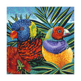 Birds in Paradise II Prints by Carolee Vitaletti