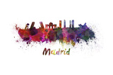 Madrid Skyline in Watercolor Posters by  paulrommer