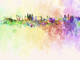 London Skyline in Watercolor Background Poster by  paulrommer