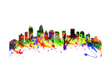 Charlotte North Carolina USA City Skyline Posters by  chris2766