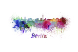 Berlin Skyline in Watercolor Poster by  paulrommer