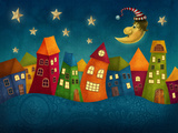 Fantasy Colorful Houses Posters by Elena Schweitzer