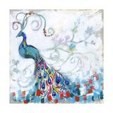 Confetti Peacock II Lærredstryk på blindramme af Jennifer Goldberger