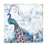 Confetti Peacock II Giclee Print by Jennifer Goldberger