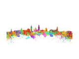 Glasgow Watercolor Skyline Poster by  chris2766
