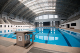 Starting Block No.1 in an Empty Swimming Pool Photographic Print by  smoothz911