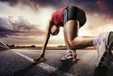 Sport. Runner. Photographic Print by  vitaliy_melnik