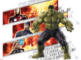 The Avengers: Age of Ultron - Incredible Hulk, Iron Man, Captain America, and Thor Pancarte matière plastique