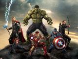 The Avengers: Age of Ultron - Thor, Hulk, Captain America, Hawkeye, and Iron Man Signes en plastique rigide