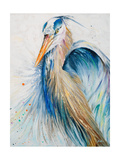 New Blue Heron II Premium Giclee Print by Patricia Quintero-Pinto