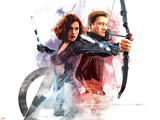 The Avengers: Age of Ultron - Black Widow and Hawkeye Plastic Sign