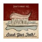 Brush Your Teeth Premium Giclee Print