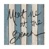 Beach Words II Premium Giclee Print by Elizabeth Medley