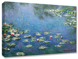 Monet Waterlilies Stretched Canvas Print by  monet