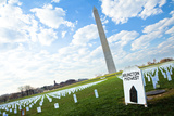 Washington Monument over Iraq War Memorial Field Photographic Print by  EvanTravels