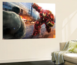 The Avengers: Age of Ultron - Hulk Faces Hulkbuster Wall Mural