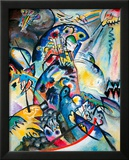 Blue Comb, 1917 Framed Giclee Print by Wassily Kandinsky