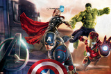 The Avengers: Age of Ultron - Captain America, Hulk, Iron Man, and Thor Plastic Sign