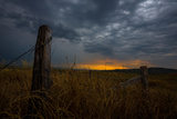 Fence in a Field at Sunset Photographic Print by  EvanTravels