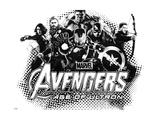 The Avengers: Age of Ultron - Hulk, Black Widow, Thor, Iron Man, Captain America and Hawkeye Metal Print