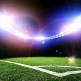 Image of Stadium in Lights and Flashes Photographic Print by Dmitry Perov