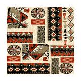 Southwest Textile II Premium Giclee Print by Nicholas Biscardi