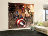 The Avengers: Age of Ultron - Thor, Hulk, Captain America, Hawkeye, Vision, Black Widow, Iron Man Wall Mural – Large