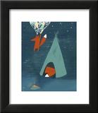 Mr. Fox's Brilliant New Ideas Framed Giclee Print by Kristiana Pärn