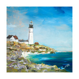 Lighthouse on the Rocky Shore I Giclee Print by Julie DeRice