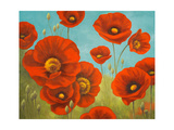 Field of Poppies I Giclee Print by Vivien Rhyan