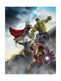 The Avengers: Age of Ultron - Thor, Hulk, Captain America, Hawkeye, and Iron Man Konst på metall