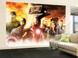 The Avengers: Age of Ultron - Thor, Hulk, Captain America, Hawkeye, Black Widow, and Iron Man Wall Mural – Large