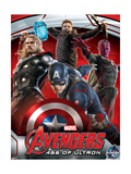 The Avengers: Age of Ultron - Captain America, Thor, Hawkeye and Vision Metal Print