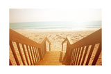 Beach Stairs Giclee Print by Susan Bryant