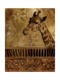 Elegant Safari III (Giraffe) Print by Patricia Pinto