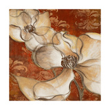 Whispering Magnolia on Red II Poster by Lanie Loreth