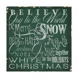 Holiday Type IV Premium Giclee Print by Elizabeth Medley