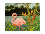 Tropical Flamingo I Prints by Linda Baliko