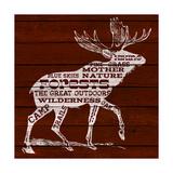 Moose Text Giclee-tryk i høj kvalitet