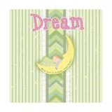 Sleepy Moon II Premium Giclee Print by Andi Metz