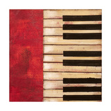 Piano Keys Premium Giclee Print by  Hakimipour-ritter