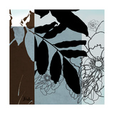 Blue and White Silhouette II Giclee Print by Patricia Pinto