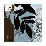 Blue and White Silhouette II Premium Giclee Print by Patricia Quintero-Pinto